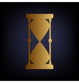 Hourglass sign Golden style icon vector image