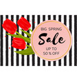 big spring sale background with beautiful flowers vector image