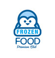 frozen food premium club label for freezing with vector image