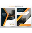 Orange annual report leaflet brochure flyer vector image