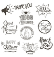 Set of vintage Thank you badges labels vector image