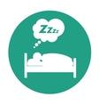 sleeping person design vector image