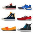 teenage sports shoes colorful sneakers at vector image