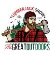 Lumberjack Template Logo vector image vector image