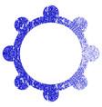gear textured icon vector image