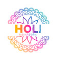 festival of colors holi celebration background vector image