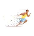 track athlete shredding concept vector image