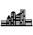 black city icon vector image