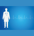 medical background with doctor vector image vector image