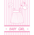 baby girl card vector image