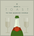 Champagne themed wedding card vector image