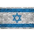 Grunge flag of Israel on a brick wall vector image