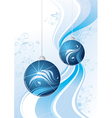 blue sparkling balls graphic vector image vector image