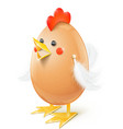 chicken egg handicraft vector image vector image