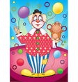 Clown with a monkey vector image