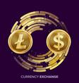 Digital currency money exchange litecoin vector image