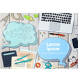 education workplace backgound vector image