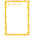 frame for congratulations easter with eggs vector image