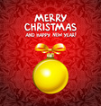 Golden realistic Christmas balls 2016 vector image