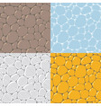 seamless cobblestone or paving stone background vector image
