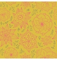 seamless floral pattern with hand-drawn flowers vector image