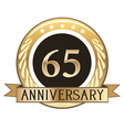 Sixty Five Year Anniversary Badge vector image