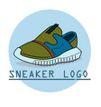 sneakers line icon vector image
