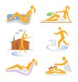 Spa wellness sauna icons vector image