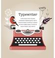 Vintage Typewriter vector image