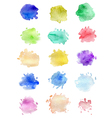 Set of abstract watercolor blots vector image
