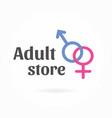 gender symbol logo template sex shop icon vector image vector image