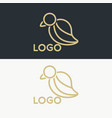 luxury bird logo vector image
