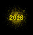 2018 new year with gold glitter vector image