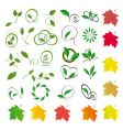 leaves vector image vector image