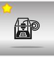 3d printer black icon button logo symbol vector image