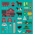 Farm infographic set vector image