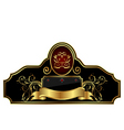 decorative gold frame label vector image