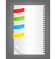 color bookmarks vector image vector image