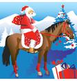 Santa on Horseback vector image