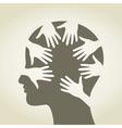 Head of hands vector image