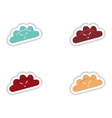 assembly paper sticker of dumplings with beef vector image