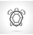 Black line icon for turtle vector image