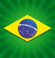 Brazil bursting flag logo vector image