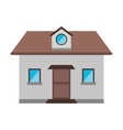 cartoon front view home window loft vector image