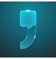 glass comma icon vector image
