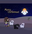 holiday of merry christmas nativity scene vector image