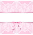 lace background and ribbon vector image