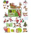large set of christmas character vector image