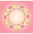 Wreath of flowers vector image