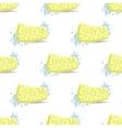Sponge for Bath Soap Bubbles Seamless Pattern vector image